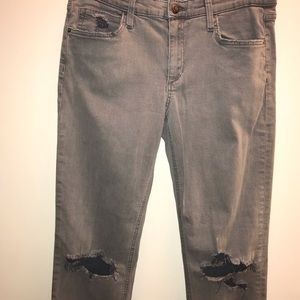 Joe's Jeans Gray Slouched Slim size 29 Busted Knee